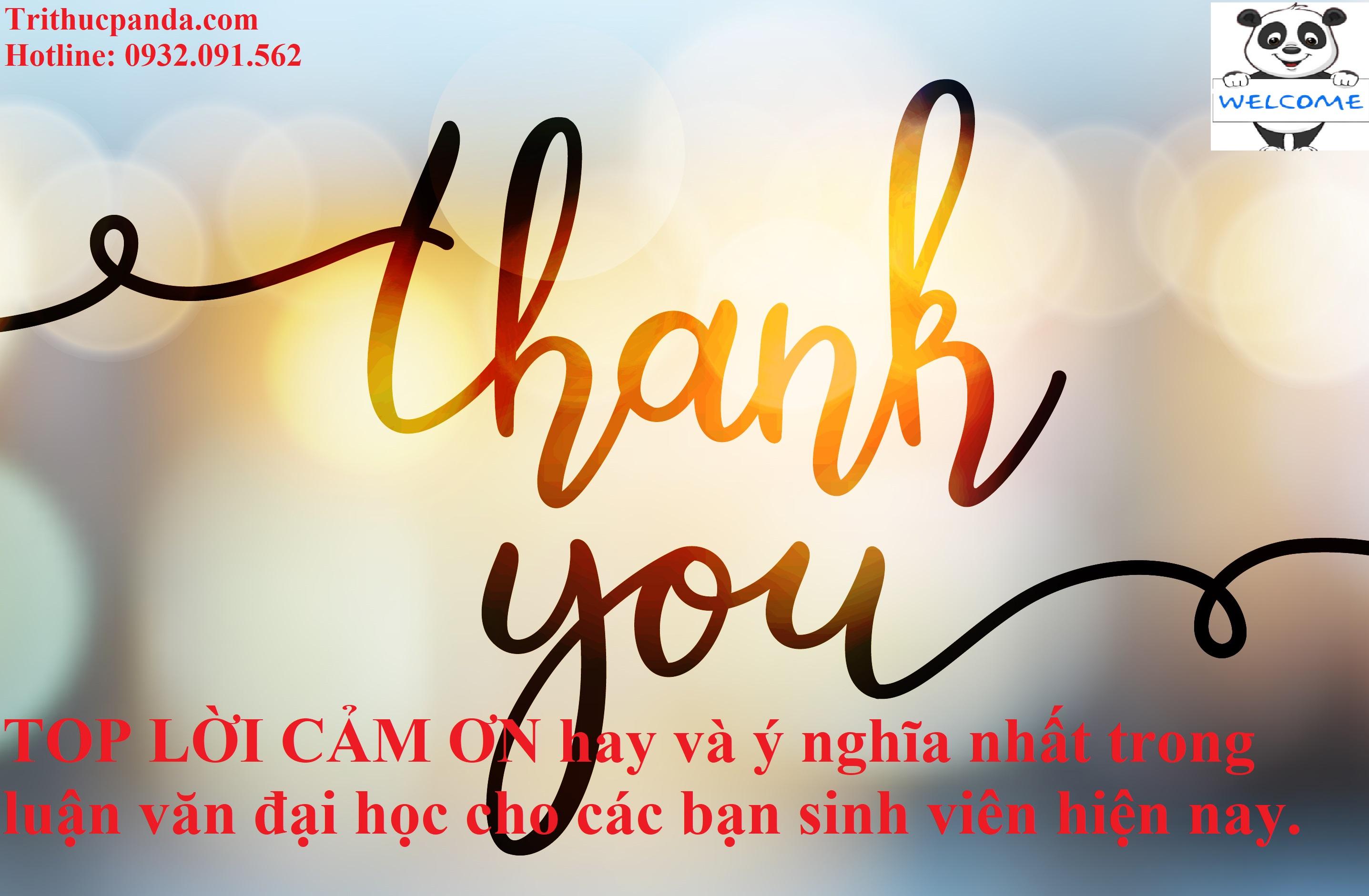 Lời cảm ơn hay và ý nghĩa nhất